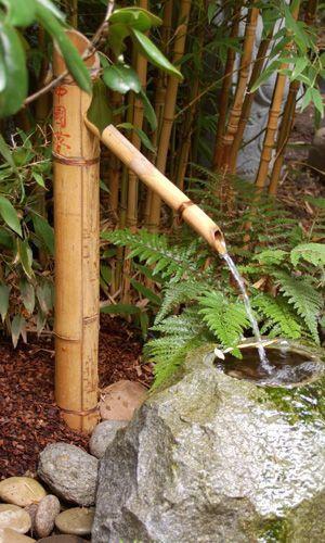 Wasserspiel Aus Bambus Wasserspeier